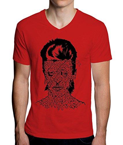 Zombie Girl Design Men's V-Neck T-Shirt XX-Large