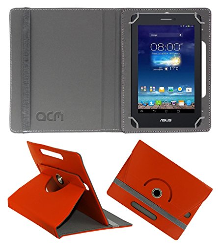 Acm Rotating 360° Leather Flip Case for Asus Fonepad 7 Me175cg-1a007a Cover Stand Orange  available at amazon for Rs.149