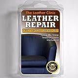 DARK BLUE Leather Sofa & Chair Repair Kit for tears holes scuffs with colour dye
