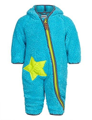 Racoon Baby - Jungen Jacke Eli Teddy Teddyfleecespieler, Einfarbig, Türkis (Scuba blue SCU), Gr. 86 (Herstellergröße: 18 Monate)