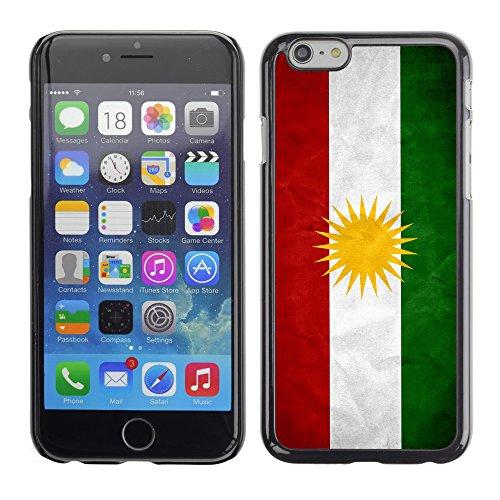Graphic4You Vintage Uralt Flagge Von Kosovo Design Harte Hülle Case Tasche Schutzhülle für Apple iPhone 6 / 6S Kurdistan Kurdisch