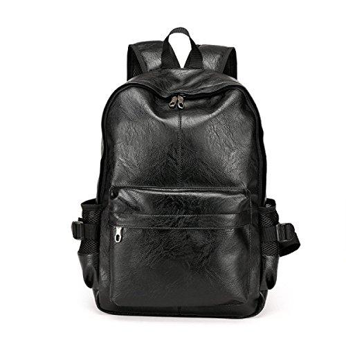 BULAGE Schulterbeutel Der Männer Spielraumbeutel Großraumrucksack Laptoptasche Kursteilnehmerbeutel Jugendhandtasche (30 * 13 * 45cm) Black