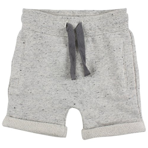 EnFant unisex Baby- und Kinder kurze Hose, 75% Baumwolle 25% Polyester, Grau Meliert, Gr.92, Bright Shorts Turtle Dove 90231