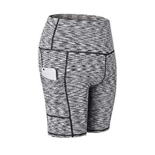 Allence Sporthose Damen Sport Leggings Kurze 3/4 Lang Laufhose Tights mit Taschen Hohe Taille Blickdichte für Yoga - Antwort Capri Tight