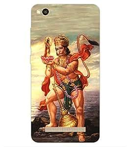 ColourCraft Lord Hanuman Design Back Case Cover for Xiaomi Redmi 4a