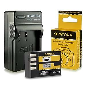 Chargeur + Batterie D-Li109 DLi109 pour Pentax K-2   K-30   K-50   K-500   K-r et bien plus encore… [ Li-ion; 900mAh; 7.4V ]