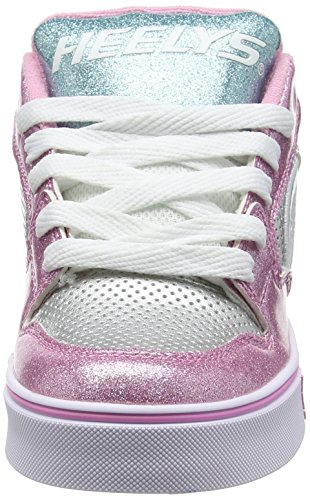 Heelys Motion Plus, Chaussures de Tennis Fille Argent (Silver / Light Pink / Light Blue)