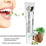 APICI Dentifrice au charbon actif, Blanchiment des dents, Teeth Whitening, dentifrice naturel noir, 100% pur, blanchiment au charbon, saveur de menthe