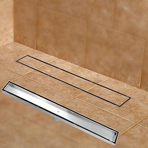 Mjj Bagno doccia lineare scarico inserire piastrelle del pavimento del canale di scarico / Acciaio inossidabile Luxury classic la resistenza alla corrosione di risolvere diversi tipi di problemi