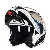 DSDZN - Motorradhelm Klapphelme Modularer Helm Mit Doppellinsen-Motorradhelm Für Männer Und Frauen Für Vier Jahreszeiten,B-M