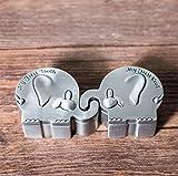 Elefant Modellierung Baby Zähne Keepsake Box, Metall Kinder Milchzähne/Nabelschnur / Lanugo Speicher Aufbewahrungsboxen Veranstalter, 6 * 4,4 * 3 cm, 2 Stücke