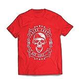 Männer T-Shirt Lebe schnell - stirb zuletzt, Fahrradermine, Motorradbekleidung, Liebe zum Fahren, tolles Geschenk für Biker (Large Rot Mehrfarben)