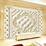 Ponana Luxus Strass Klassische Fototapeten Wohnkultur Tapete 3D Wandbild Tapeten Landschaft Wohnzimmer-280X200Cm
