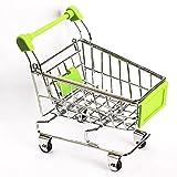Generic Gelb: 1Stück Graet Geschenke Mini Supermarkt Bollerwagen grün Shopping Mehrzweckwagen Modus grün Aufbewahrung Funny Warenkorb zusammenklappbar mit Rädern