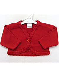 Baby Girls Red Knitted Bolero Cardigan by Dandelion (0-3 Months)