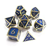 Cracklight Outlet Nuovo Carattere per Dungeons & Dragons 7pcs / Set Innovativo Gioco Rpg Dice D & D Dice di Metallo Impostato