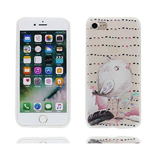 Custodia iPhone 6 Plus/6S Plus 5.5 - La copertura posteriore della cassa di gomma protettiva del silicone TPU del respingente ultra sottile Copertura per iPhone 6s Plus Case 5.5, uccelli uccelli