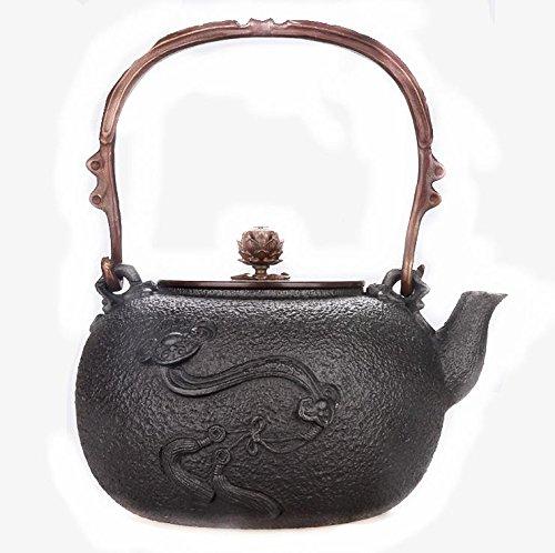 Giappone Cast Iron Pot Ruyi pura copertura di rame acqua bollita Tea 1.3L Hand-Coated