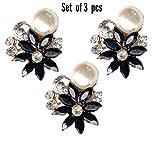 #10: A'SHOP Amazing Black Pendant Style Button ( Set Of 3 )