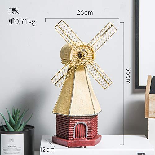 Nordische Retro Windmühle Schaukel Stücke Kreative Haus Wohnzimmer Shop Geheime Zoll Dekoration Weinschrank Eingerichtet Handwerk Red Dutch Windmill pro