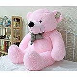 #7: Gurudev's Large Very Soft 4 Feet Lovable/Huggable/Fluffy Teddy Bear with Neck Bow for Girlfriend/Birthday Gift/Boy/Girl/Valentine (122 CM,Pink)