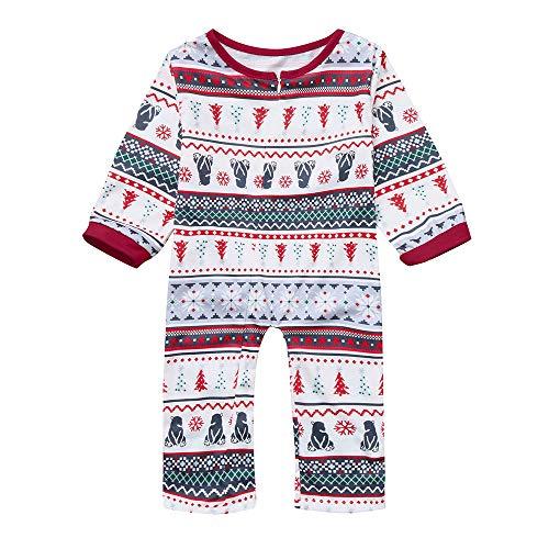 7a62457ef737a ADESHOP Ensemble Pyjama NoëL Famille PèRe MèRe GarçOn Fille NoëL Imprimer  Col Rond Tee Pull-