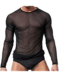 Ropa interior para hombres sexy Camiseta de manga larga Tops Ropa interior  para dormir By Sandbank 18f9eb27b6ba