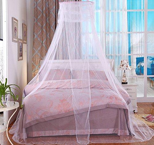 Anti-insetti Mosquito Net-Zanzariera da Letto a Baldacchino Grande Protezione Ideale per la Casa o per le Vacanze Bianco Compreso un Gancio Appiccicoso