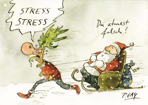 HNACHTEN von modern times +++ STRESS STRESS +++ CARTOON CONCEPT © GAYMANN, Peter ()