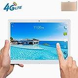 Tablet 10 Pollici con Wifi Offerte|Fire HD 10.1' 3G 4G LTE Android 7.0 4GB RAM,64GB ROM,Doppia SIM,Deca-Core,GPS,OTG,1920X1200 IPS,Gold