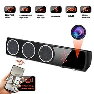 telefono camara espia: GSmade WiFi Oculto Cámara Altavoz Inalámbrico HiFi - IR Visión Nocturna Cámara e...