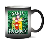 Wicked Design Ganja Friendly Teletubbies Marijuana Cannabis Weed Leaf 420 Tasse Chaleur Changement De Couleur