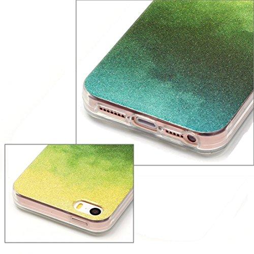Wkae Case & Cover Pour iPhone 5 &5s &SE Housse de protection TPU IMD Couleur Fades Glitter Powder ( SKU : IP5G9966L ) IP5G9966C