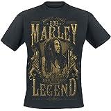 Bob Marley Rebel Legend T-Shirt schwarz