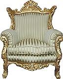Casa Padrino Barock Wohnzimmer Set Master Jadegrün/Beige / Gold Mod2 – 3-er Sofa + 2 Sessel - 2