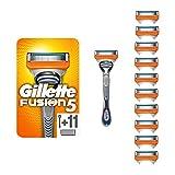 Gillette Fusion5 Lamette di Ricambio per Rasoio, Confezione da 11 Testine e Manico Gratis