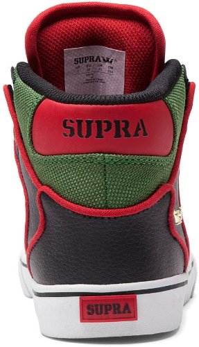 Supra - Supra Kids Vaider, Sneakers da uomo Black Forest Green White