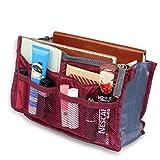 Tasche in der Tasche ROT Make-up Taschenorganizer Reise Kosmetik Tool Pinseltasche Kulturtasche Organizer Handtasche