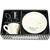 2er-Set Espressotassen »In der Musik spricht Seele zu Seele«