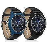 kwmobile 2in1 Set: 2X Sport Armband Schutzhülle für Samsung Gear S3 Classic Innenmaße: ca. ohne Tracker in Schwarz Dunkelblau