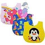 Baby Grow Waterproof Baby Bibs Boys Girls 3 Piece Pack (Multi Waterproof-1)