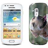 Chiens 10050, Labrador, Clair Etui Housse Coque de Protection en Cuir avec Stand, Fermeture Magnétique et Dessin Coloré pour Samsung Galaxy S3 Mini