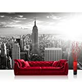Vlies Fototapete 200x140 cm PREMIUM PLUS Wand Foto Tapete Wand Bild Vliestapete - MANHATTAN SKYLINE - New York City USA Amerika Empire State Building Big Apple - no. 015