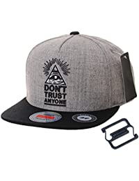 fddd0ff6c0e3f2 WITHMOONS Snapback Hat Illuminati Patch Hip Hop Baseball Cap AL2390