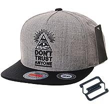 WITHMOONS Gorras de béisbol Gorra de Trucker Sombrero de Snapback Hat  Illuminati Patch Hip Hop Baseball 722e8d3af72