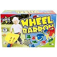 KIDS CHILDRENS GARDEN BEACH WHEEL BARROW 10 PIECE PLAY SET