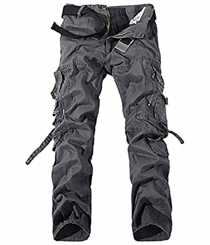 UMilk Hommes Active Loose Fit Military Multi-Pockets Wild Cargo Pants