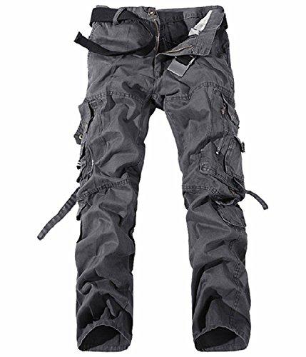 UMilk Herren Military Cargo Hosen Entspannungs-Fit Wild (Alten Outfit Golf)
