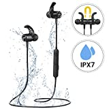 Bluetooth Headphones Running, Mpow S10 IPX7 Waterproof Wireless Magnetic Sports Earphones with HD