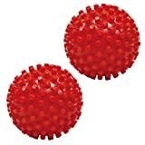 ResultSport® Spiky Massage Balls Soild x2 Pieces 5cm, Trigger Point Massage, Stress Reflexology, Myofasical Ball, Exercise Ball, Lacrosse Ball